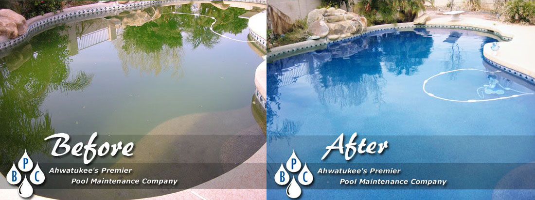 Pool cleaning photo gallery before and after photos - How soon can you swim after plastering pool ...