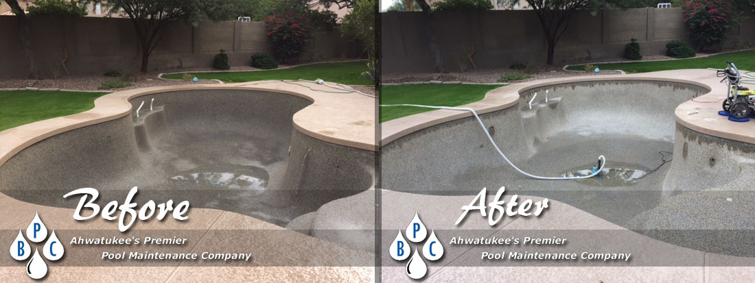 Pool Cleaning Before And After : Pool cleaning photo gallery before and after photos
